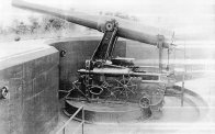 One of old Fort Ward's big guns.