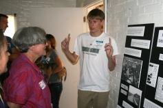 Mark discusses historic Fort Ward armament.