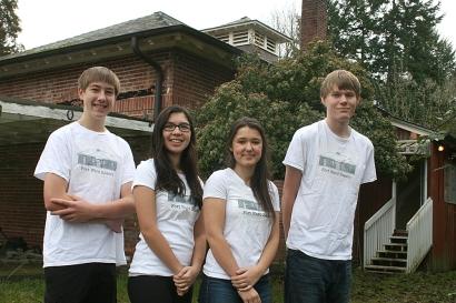 Erik Appleberry, Aila Ikuse, Kate Merifield, Mark Dettman -- the Fort Ward Youth Advisory Committee