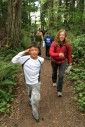 Wilkes School students visit Fort Ward on a field trip.