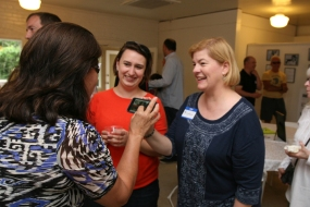 Guests and friends at a FWCH mixer.