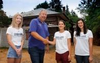 Thanking Curt and Bainbridge Heating & Air for an excellent pledge.