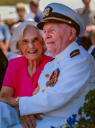 Veterans and spouses returned to the fort in 2002 for the Parade Grounds park dedication.
