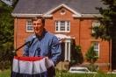Jay Inslee visits Fort Ward, 2002 Parade Grounds dedication.