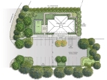 Draft parking and landscaping plan for Fort Ward Community Hall.