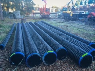 Pipes for the underground storm system