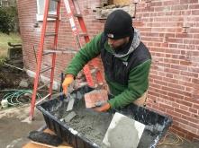 masonry underway